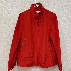 Calvin Klein Red Jacket Full Front Zip L High Neck